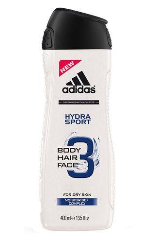 Adidas 3in1 Hydra Sport tusfürdő gél 250 ml Férfiaknak
