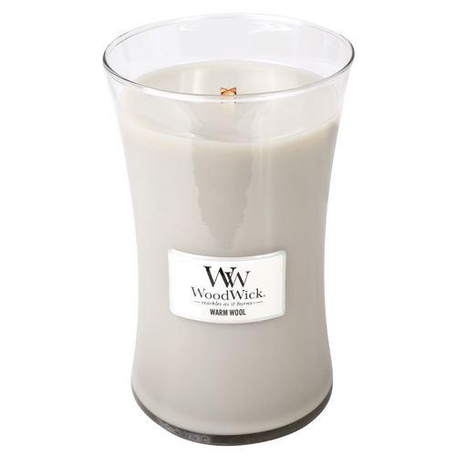 WoodWick Warm Wool illatos gyertya 609 g