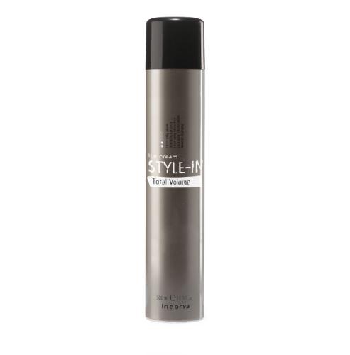 INEBRYA STYLE-IN Total Volume erősen fixáló, volumennövelő hajlakk 500 ml