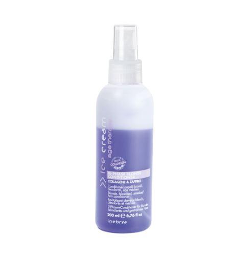 INEBRYA AGE THERAPY Bi-Phase Blonde Conditioner kétfázisú kondicionáló melírozott hajra 200 ml