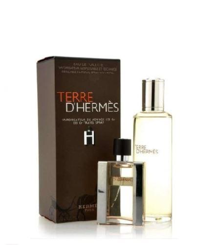 Hermes Terre d'Hermes EDT 30 ml + toaletní voda náplň 125 ml Férfiaknak ajándékcsomag